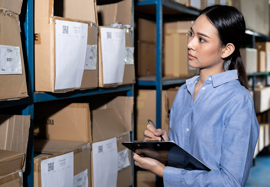 Businesswoman in charge of the supply chain management